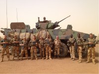 The 4th Company - Les Rapaces - of the 92th Infantry Regiment, stationed in Mali - JPEG - 197.8 kb